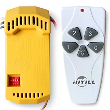 Amazon hiyill lighting 18r53t universal ceiling fan remote hiyill lighting 18r53t universal ceiling fan remote control kit replacement for harbor breeze 43147 aloadofball Choice Image