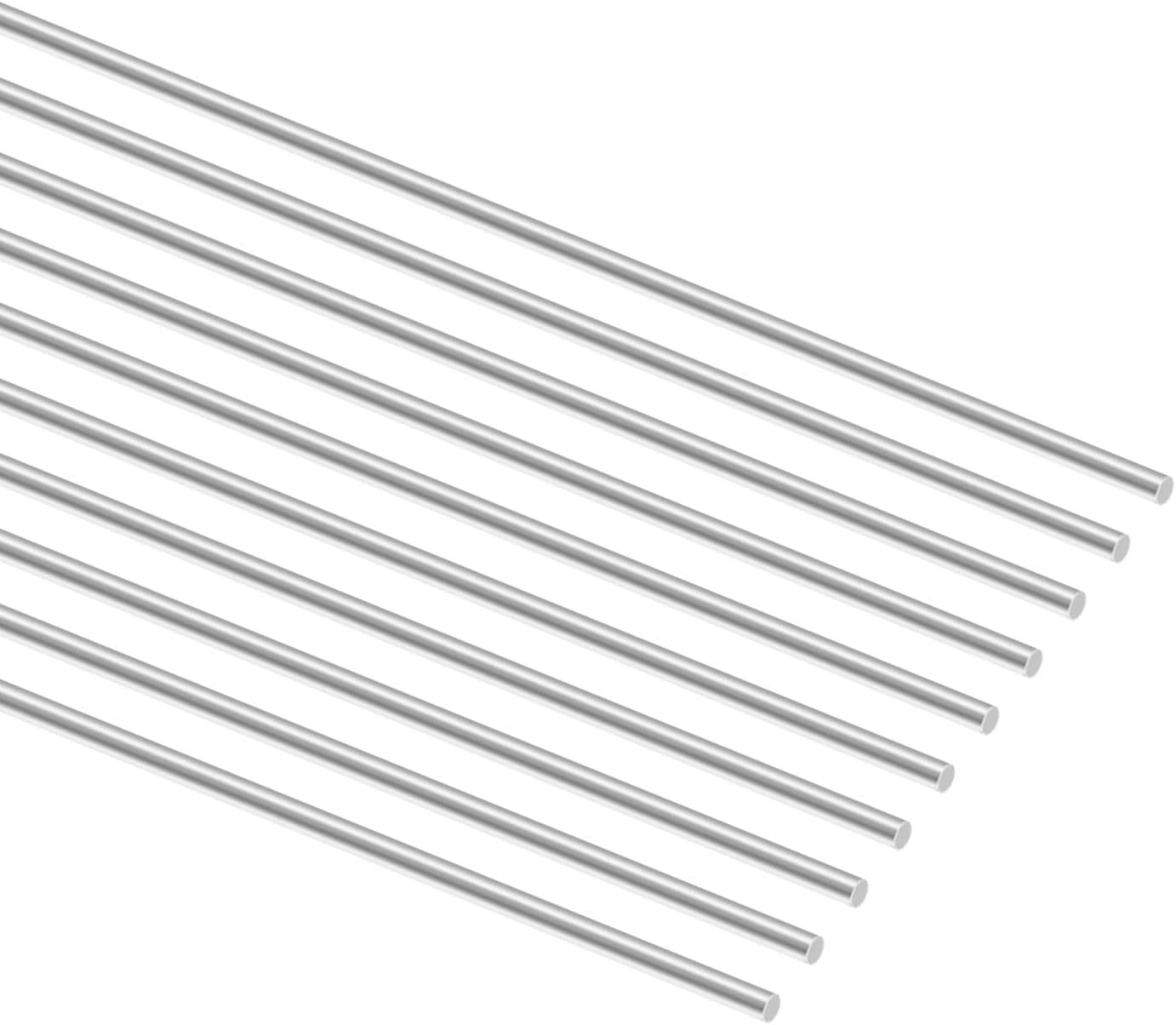 MHUI Stainless Steel Solid Round Rods Metal Lathe Bar Stock 2mm,for RC Airplane DIY Craft,Length 5Pcs 2mm ,Diameter 1m//3.28ft