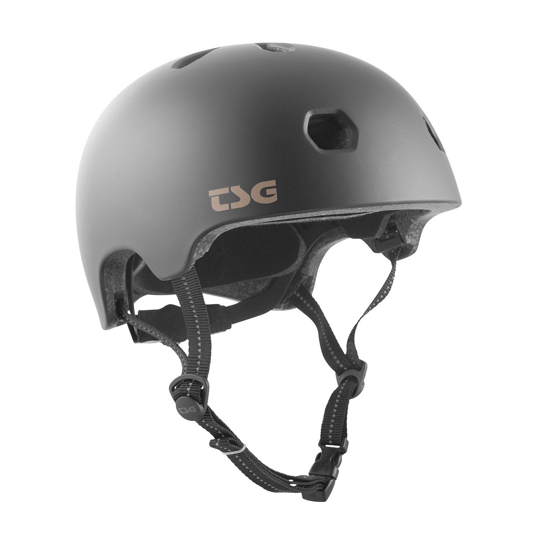 TSG - Meta Solid Color - Helmet for Bicycle Skateboard (Satin Black, L/XL 58-60 cm)