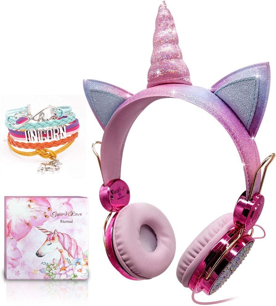 Kinder Einhorn Kopfhörer Mädchen Kopfhörer Over Ear Elektronik