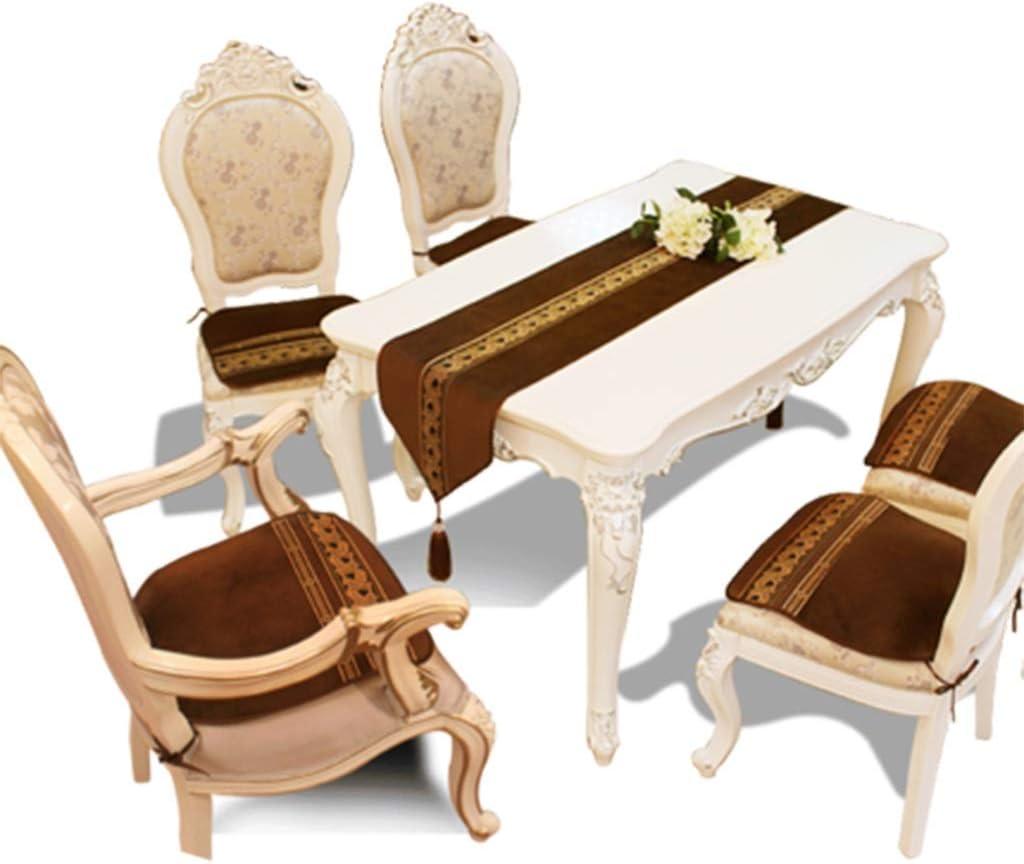 Table Runner Luxury Alpha Short Plush Mantel Tapicería Cubierta de Tela para Bodas Fiesta de Navidad Decoraciones de Mesa Marrón (Size : 34 * 180cm)