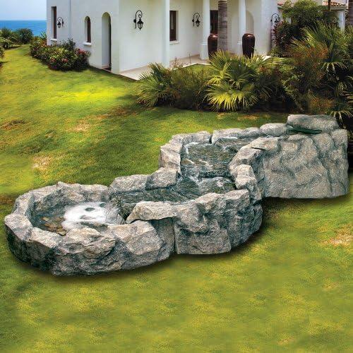Fuente de cascada de polirresina para muebles de exterior, para jardín, Zen, efecto rocas: Amazon.es: Jardín