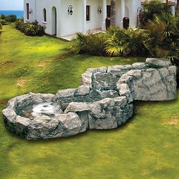 Brunnen Garten aus Polyresin für Dekoration-Außen- und Garten – Zen ...