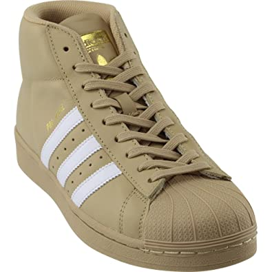Adidas Pro Model Mens Khaki/White/Metallic Gold 10.5 D(M) US New