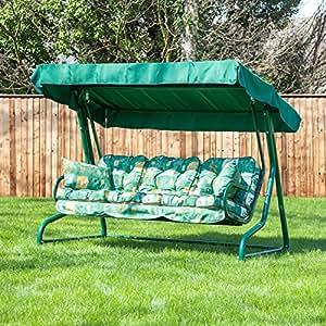 De repuesto o cama de matrimonio Alfresia silla columpio para los oídos en té verde (para 3 plazas)