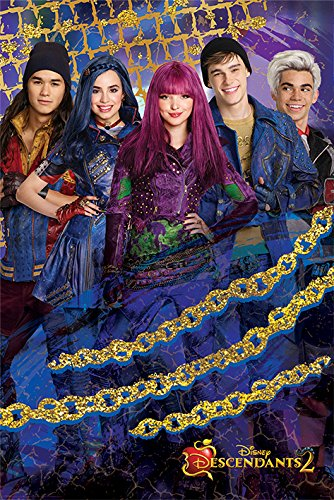 Disney's Descendants 2 - TV Movie Poster / Print (Evie, Mal & The Boys - Together) (Size: 24
