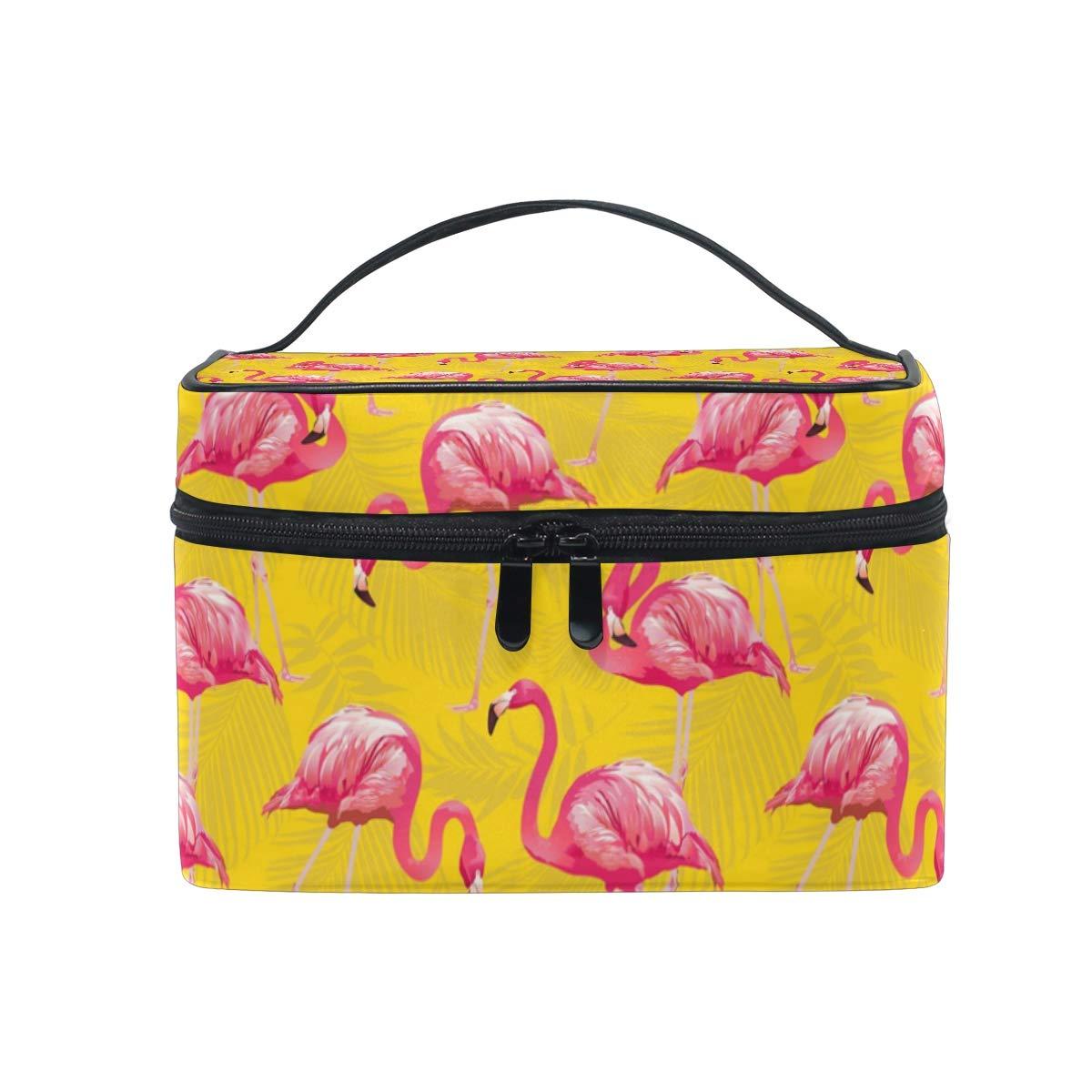 00f95ad3a75d Amazon.com : Cosmetic Bag Tropical Bird Flamingo BackgroundTravel ...