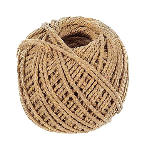 Tan Cotton Rope - Length of 50 Meter - Diameter of 3 Millimeter - Super Soft to The Touch ()