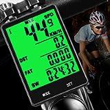 DINOKA Wireless Bike Computer,Multifunction Wireless with Extra Large LCD Backlight Display Bike Speedometer and…