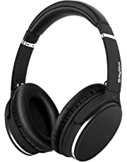 Lightweight Active Noise Cancelling Bluetooth Headphones, Srhythm Foldable Wireless Over Ear Headset with Deep Bass (Low Latancy, CVC 6.0 Noise Cancellation, Built-in Mic)