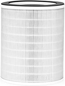 Amrobt Smart Air Purifier Replacement Filter, 3-in-1 Filtration System Include Pre-Filter, True HEPA Filter, Activated Carbon Filter, for Home Large Room 538 sq.ft