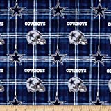Fabric Traditions NFL Flannel Dallas Cowboys Navy/Grey Fabric By The Yard