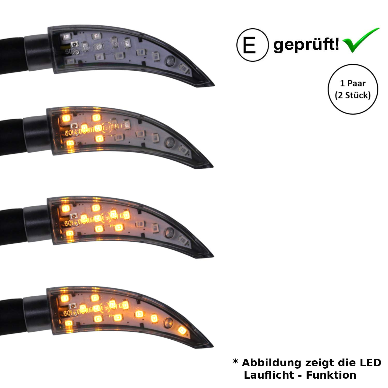 B18 E-Gepr/üft // 2St/ück LED Blinker kompatibel mit Honda FMX 650 NTV 650 CA 125 Rebel,