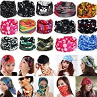 EASY4BUY 10 pc Bandana Bikers Motorcycle Riding Neck Face Mask Protection Tube Head Bands For-Royal Enfield Continental GT