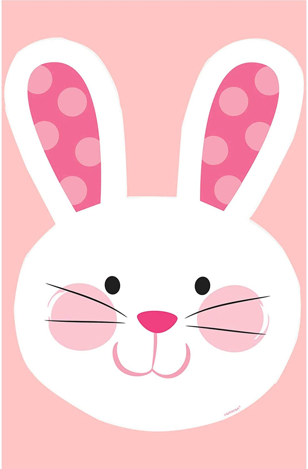 Pink And White Easter Bunny Head Cutout | Party Decoration