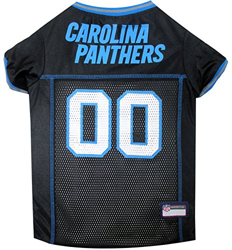 Pets First NFL Carolina Panthers Jersey, Large