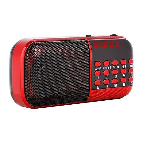 Amazon.com: Bewinner - Altavoz portátil de radio FM y ...