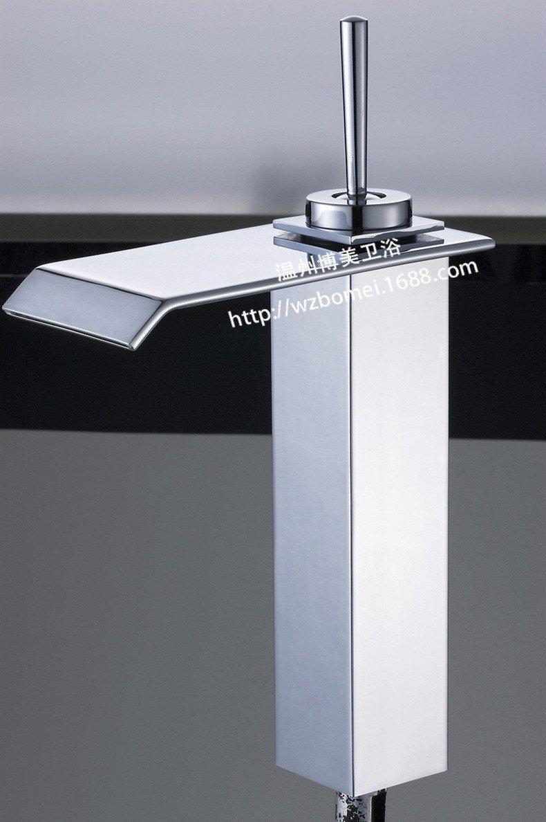 Hlluya Wasserhahn Wasserhahn Wasserhahn für Waschbecken Küche Waschbecken Wasserhahn warmes und Kaltes Becken - breite Wasserhahn Messing Chrom Quartett Taps 4f575f