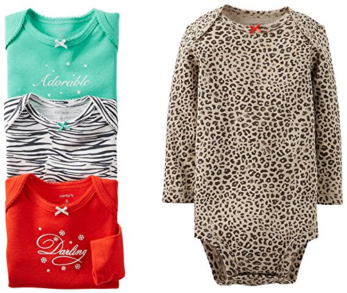 Carter's 4 Pack Animal Print Bodysuits (Baby) - Assorted-3 Months - Animal Bodysuit