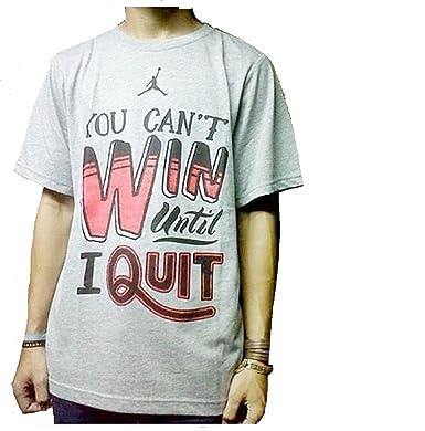 2c89e1eda7dbc7 Amazon.com  Jordan Nike Boys  You Can t Win Until I Quit  Tee Shirt ...