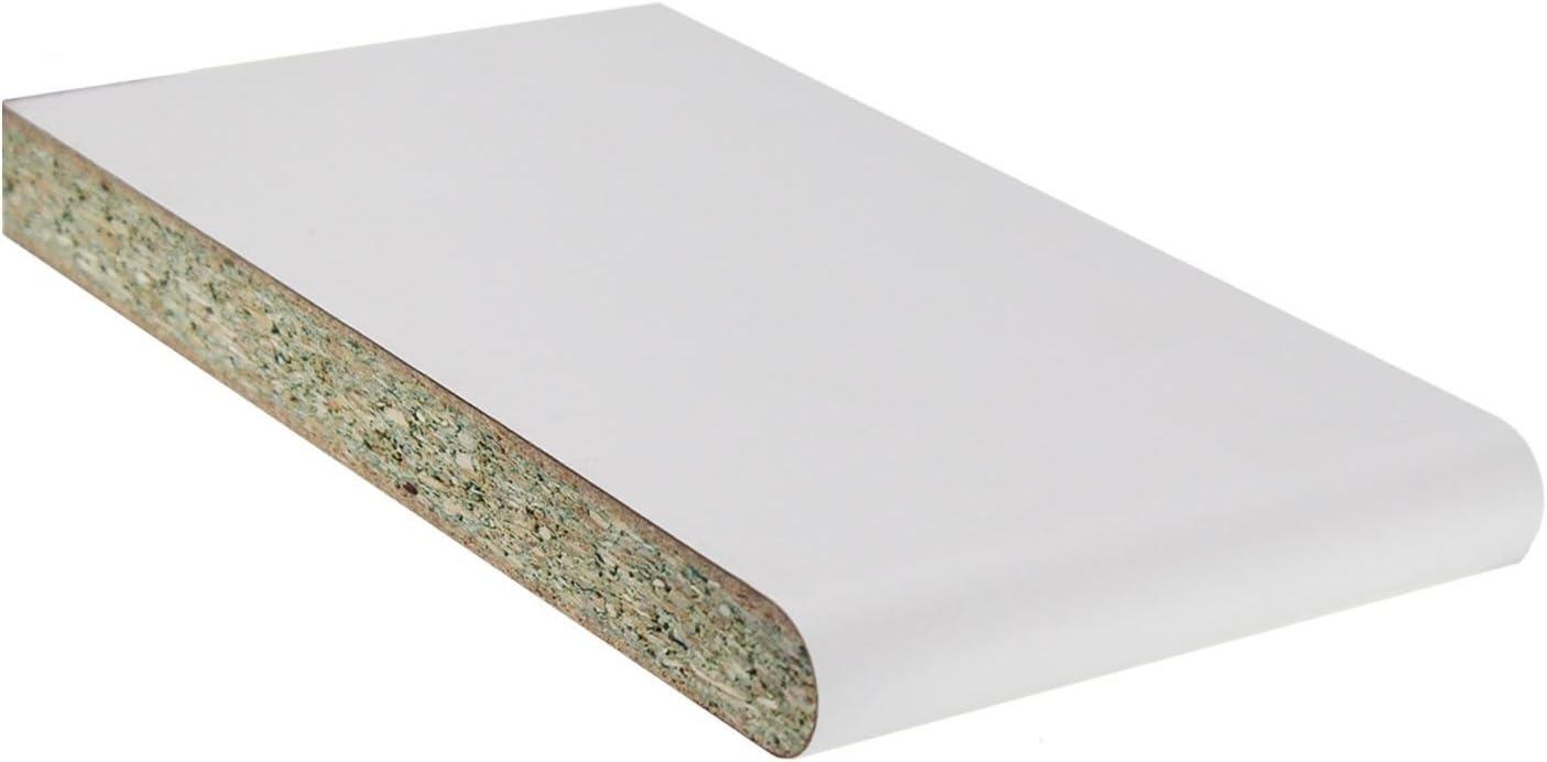 100mm 2.5m Long Laminate Window Board Cill Moisture-Resistant 23mm Chipboard UPVC Plastic Internal Sill Polyboard Duraboard White