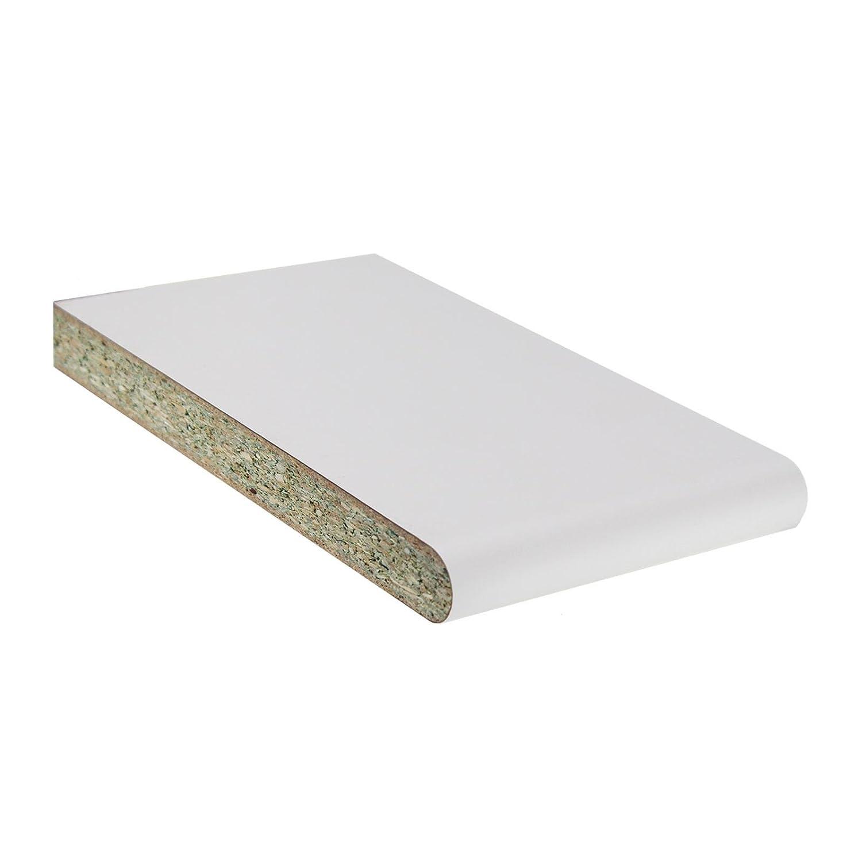 White, 225mm 5m Long Laminate Window Board Cill Moisture-Resistant 23mm Chipboard UPVC Plastic Internal Sill Polyboard Duraboard Eurocell