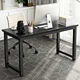 55'' Computer Desk , LITTLE TREE Large Office Desk Study Writing Desk / Table Workstation for Home Office, Metal Frame (Black)