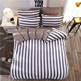 4pcs Bedding SetDuvet Cover Set Microfiber Durable One Duvet Cover Without Comforter One Flat Sheet