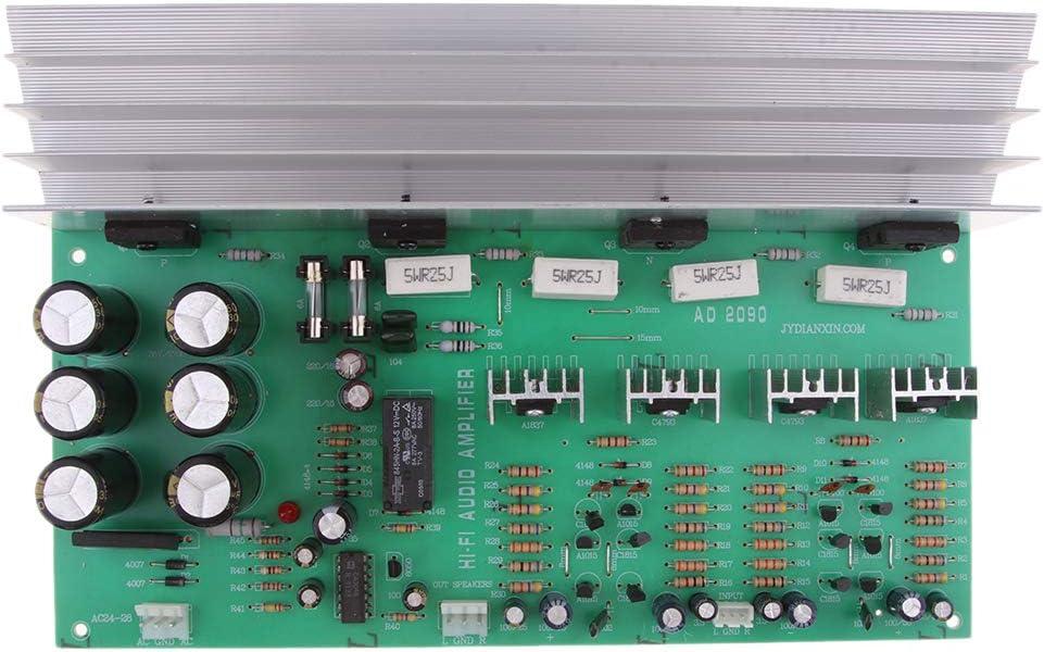 P Prettyia Tablero de Amplificador de Alta Potencia Piezas de Reparación de Reproductor de Audio 2x150W - A