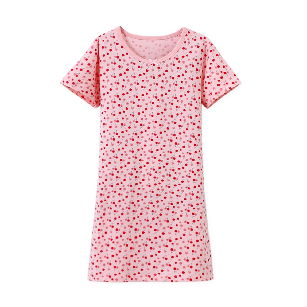 Zegoo Nightdress Cotton Printed Sleepwear for Girls