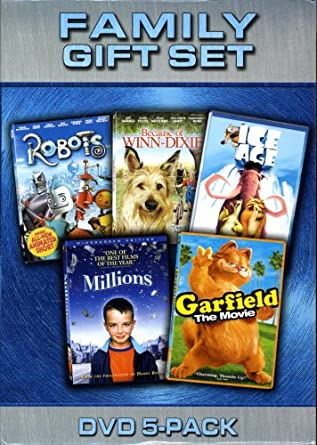 Amazon Com Family Dvd 5 Pack With Robots Winn Dixie Ice Age Millions And Garfield Movies Tv
