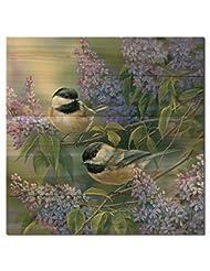 WGI Gallery WA-CL-2424 Chickadees & Lilac Wall Art
