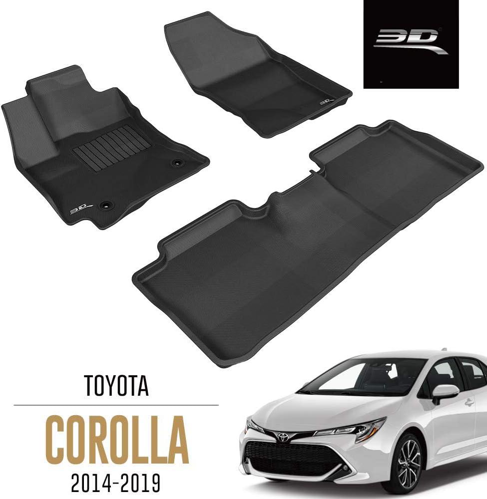 Saloon Element EXP.ELEMENT3D02158210k Tailored Custom Fit 3D Rubber Floor Mats for Toyota Corolla Black 2014