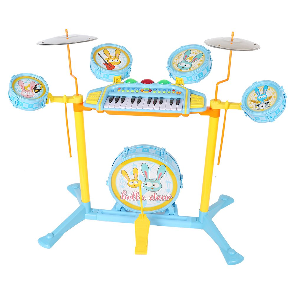 COLORTREE Educational Development Music Toy Electric Beats Jazz Drum and Piano