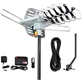 Digital Outdoor Amplified HD TV Antenna 150 Miles Long Range-Support 4K 1080p Firestick 2 TVs with 360 Degree Rotation…