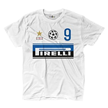 KiarenzaFD Camiseta Camiseta Fútbol Vintage Samuel Inter 9 ETO Temporada 09 - 10 Champion 2: Amazon.es: Deportes y aire libre