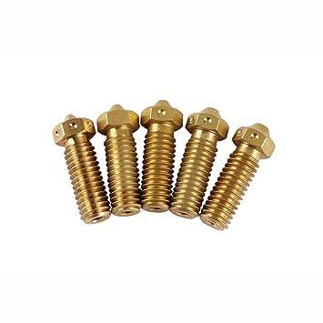 ILS - 5 Piezas V6 Brass Calentador pulverizador 1,75 milímetros 0 ...