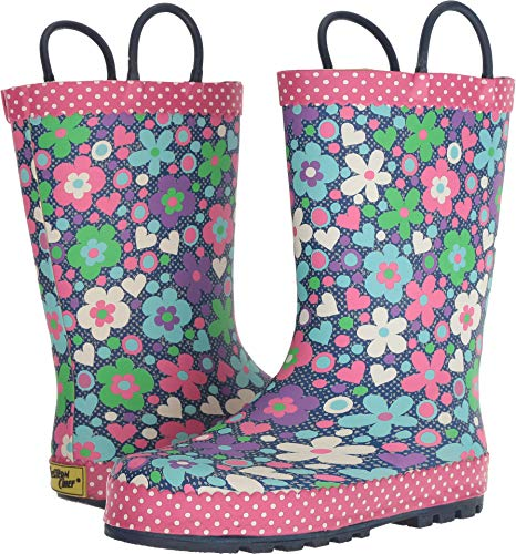 Western Chief Kids Baby Girl's Limited Edition Printed Rain Boots (Toddler/Little Kid) Precious Petals Denim 12 M US Little Kid M by Western Chief
