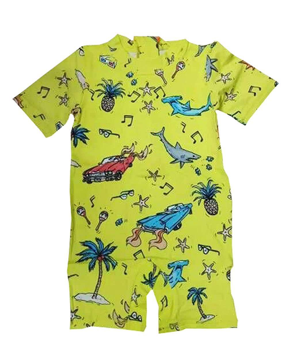 Infant Newborn Baby Boys Swimwear One Piece Yellow Beach Sunsuits