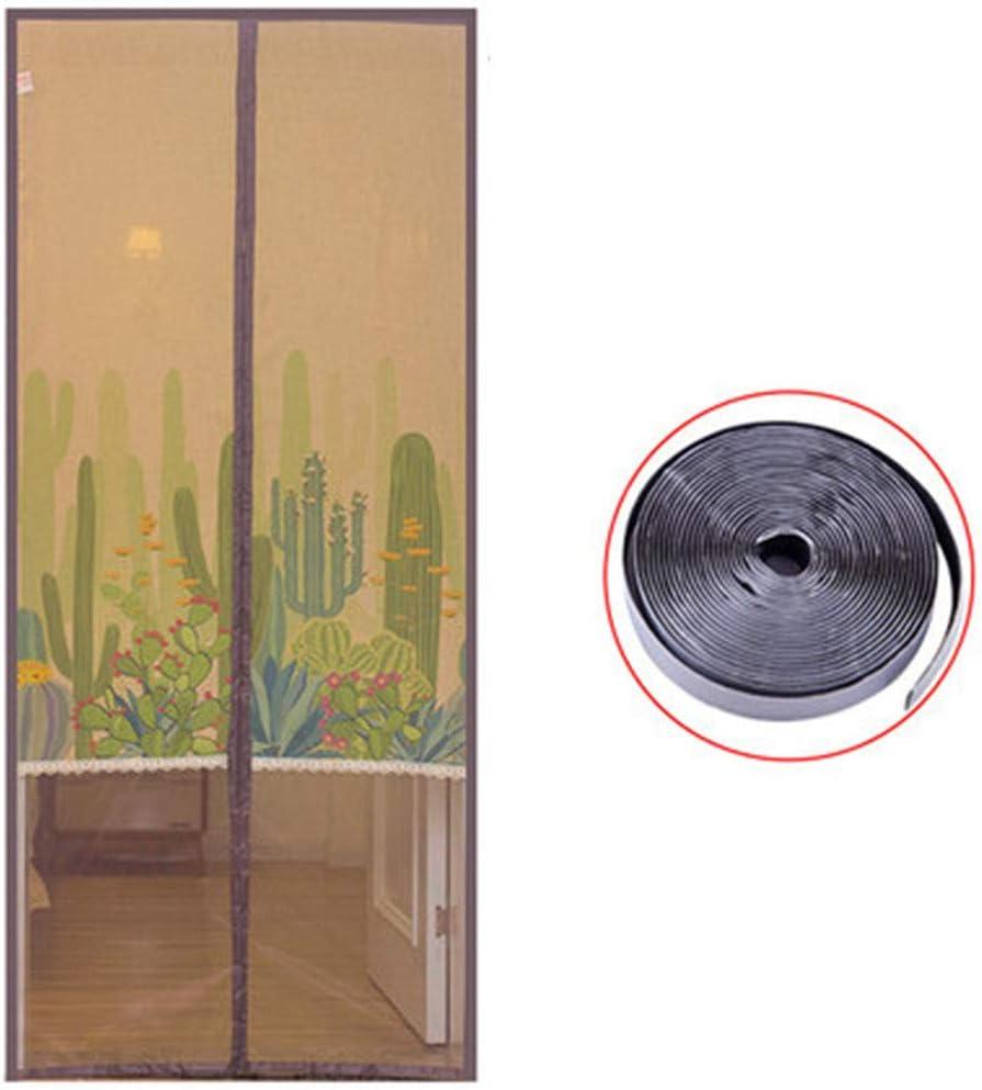 FF&XX Propio-Cierre Privacidad Pantalla De La Puerta,Anti-Mosquito Magnético Puerta Mosquitera,Apto para Mascotas Y Niños Viento-Prueba Puerta Magnéticoa,para Puerta Francesa A 150x220cm