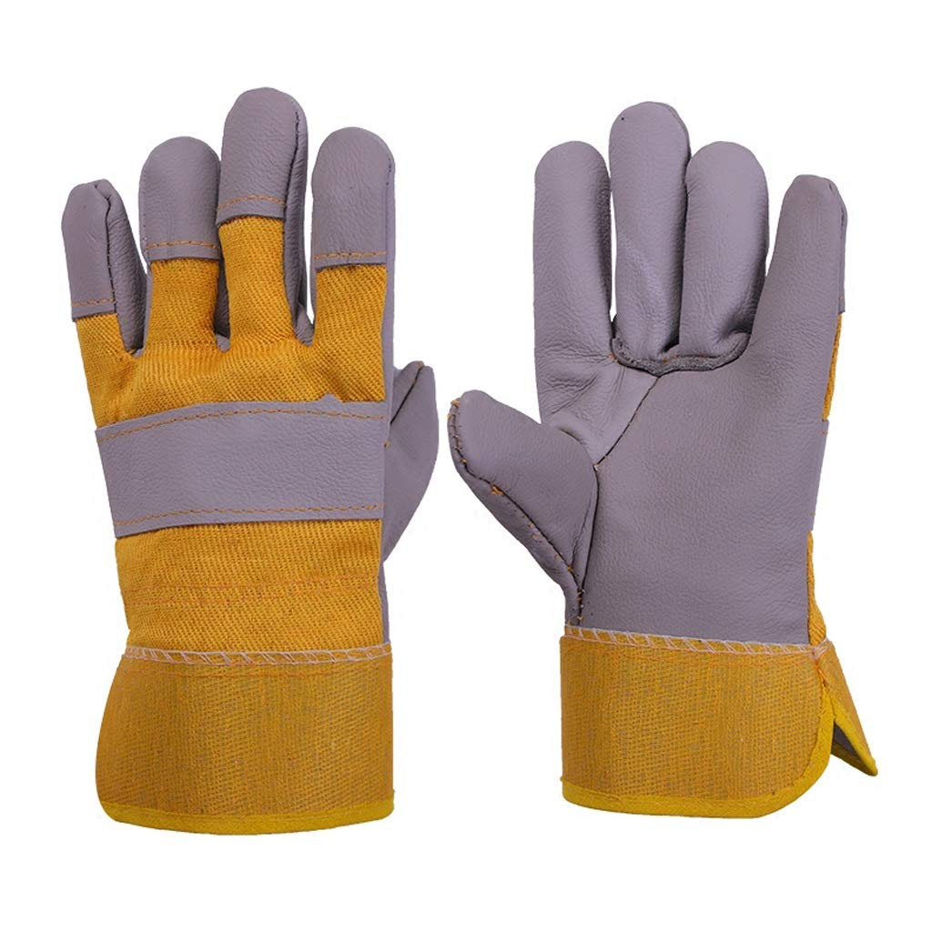 AINIYF Extreme Heat & Fire Resistant Gloves Leather With Stitching, Perfect For Fireplace, Stove, Oven, Grill, Welding, BBQ, Mig, Pot Holder, Animal Handling (Color : 10 pairs)