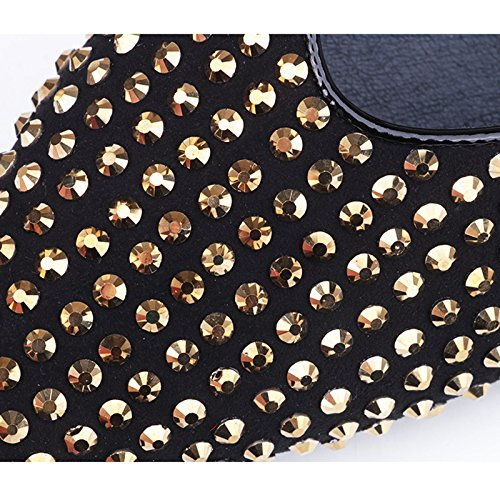 Palabra Creativos Plana De Zapatos WENJUN Baotou Casuales Femenina Moda Joker Zapatillas Medias Plata Sandalias La Punta con xwngf6vq0n