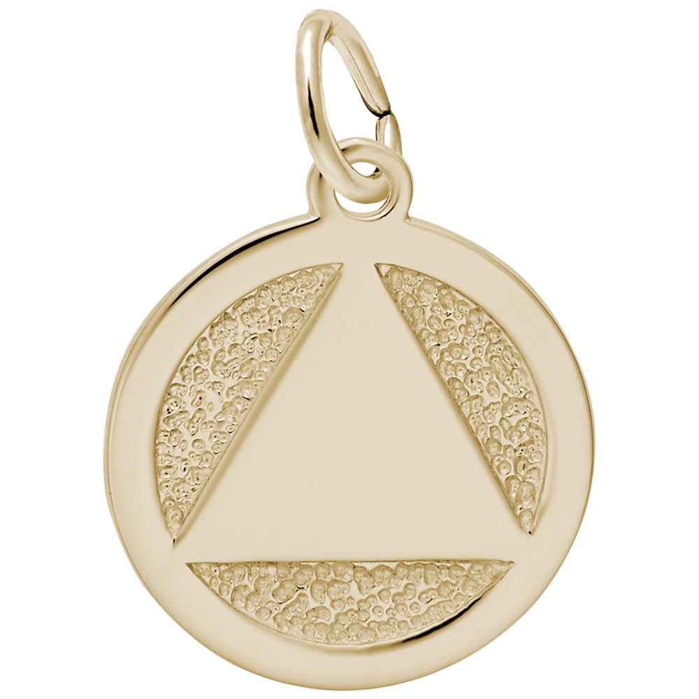 10k Yellow Gold Aa Symbol Charm, Charms for Bracelets and Necklaces