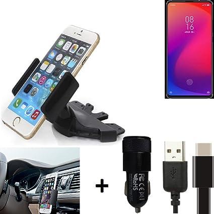 K-S-Trade® Top Set para Xiaomi Mi 9T Pro Soporte Ranura De CD Smartphone Coche para Los Dispositivos De Navegación/Teléfonos Inteligentes Montaje De La Radio Hecho Smartphone Teléfono Móvil: Amazon.es: Electrónica