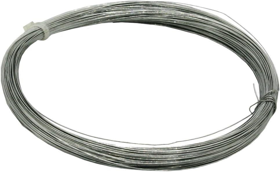 Christoph Palme Leuchten - Alambre de hierro galvanizado atado, 0,4 mm de grosor y 50 m de largo, también para manualidades