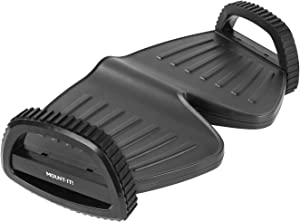Mount-It! Rocking Footrest Under Desk | Active Foot Rest Ergonomic | Two-Height Adjustable Foot Rocker Office Desk | Anti-Slip Foot Support for Office
