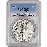 1987 American Silver Eagle $1 MS69 PCGS
