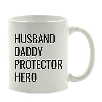 5ce5bf532 Andaz Press 11oz. Father's Day Coffee Mug Gift, Husband. Daddy. Protector.