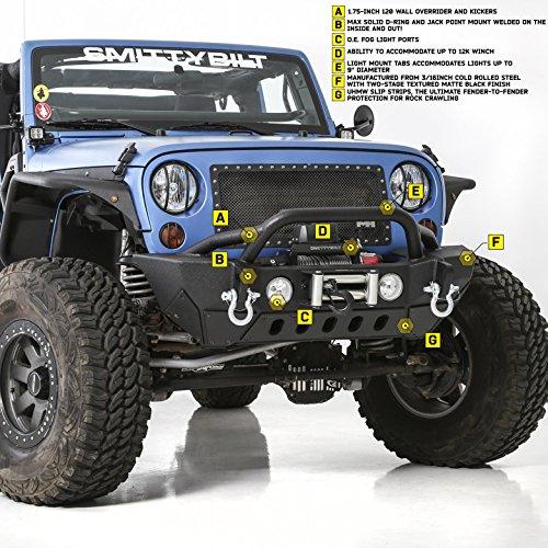 Jeep Wrangler JK 2/4 Door (2007-2014) Front Steel Winch Bumper XRC Gen2 SMITTYBILT 4x4 Off Road Greggson: Amazon.es: Coche y moto