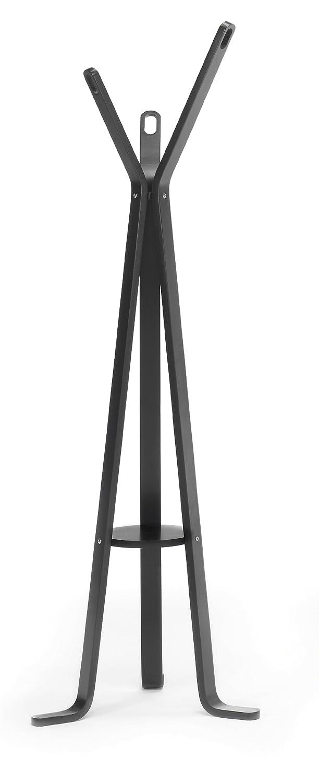 Due-home Perchero de pie moderno, color negro